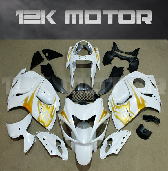SUZUKI Hayabusa GSX1300R 2008-2018 White with Gold decals Fairing