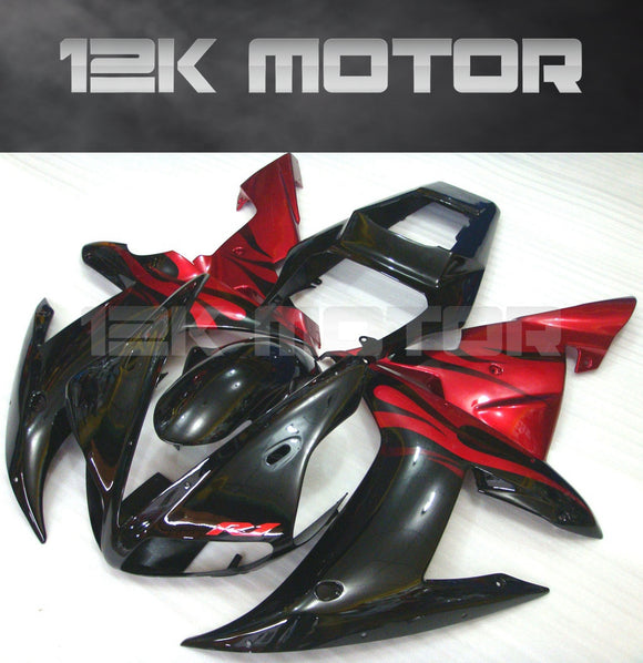 Black Red Fairing For Yamaha R1 2002 2003 Aftermarket Fairing Kit