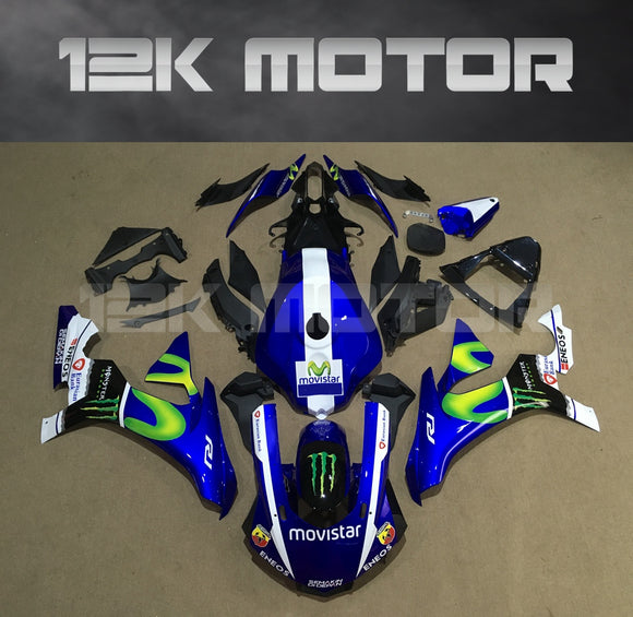 Movistar Monster Fairing for Yamaha R1 2015-2019 Aftermarket Fairing kits