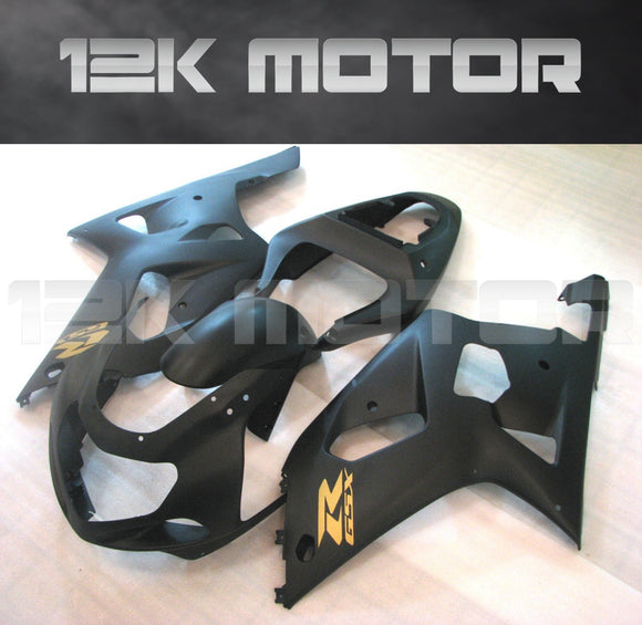Matt Black and Gold Fairing Fit For SUZUKI GSXR 600/750 2000-2003 Aftermarket Fairing Kit