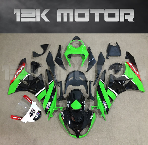ZX6R Fairing Kit for Kawasaki ZX6R Fairings 2009 to 2012 Green Black Fairing set 4
