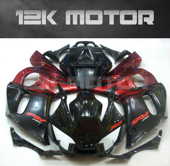 Black & Red aftermarket fairing fit for Yamaha YZF R6 1998-2002