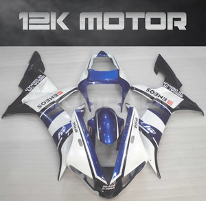 White Blue Fairing For Yamaha R1 2002 2003 Aftermarket Fairing Kit
