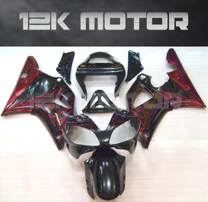 Red Flame Fairing For Yamaha R1 2000 2001 Aftermarket Fairing Kit