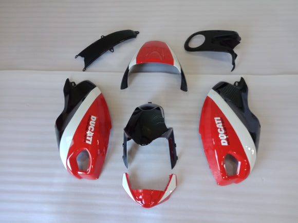 ---AU STOCKING---Black Red White Fairing kit For Ducati Monster 659/696/1100