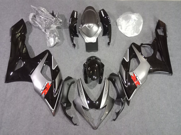 ---AU STOCKING---Fit Suzuki GSXR GSX-R 1000 2005 2006 Black Silver Fairing Kit