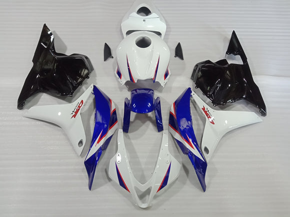 ---AU STOCKING---White Blue Fairing Kit For Honda CBR600RR 2009 2010 2011 2012