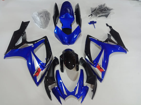 ---AU STOCKING---Blue Black Fairing Kit For Suzuki GSX-R 600 GSX-R 750 2006 2007