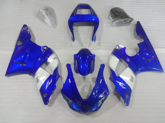 ---AU STOCKING--- Blue White Fairing Kit For Yamaha YZF-R1 R1 1998 1999
