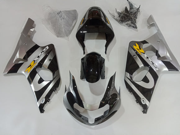---AU STOCKING---Black Silver Fairing Kit For Suzuki GSXR GSX-R 1000 2000 2001 2002