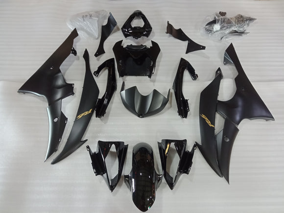 ---AU STOCKING--- Matt Black Fairing Kit For Yamaha YZF-R6 R6 2008-2016