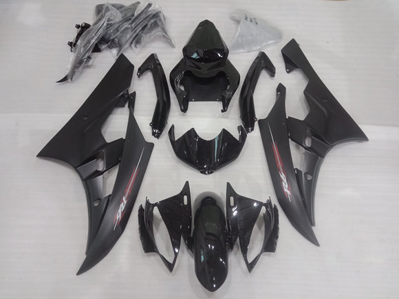 ---AU STOCKING--- Black Fairing Kit For Yamaha YZF-R6 R6 2006 2007