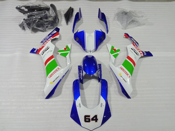 ---AU STOCKING---Blue White Fairing Kit For Yamaha R1 2015-2019