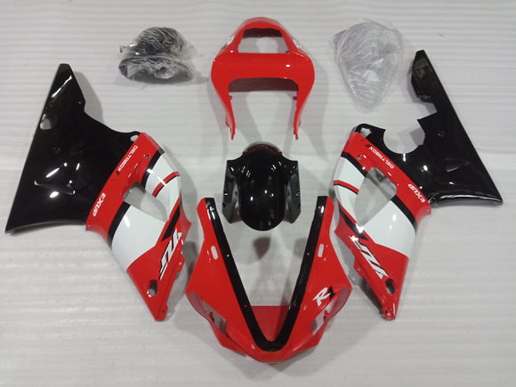---AU STOCKING--- Red White Fairing Kit For Yamaha YZF-R1 R1 2000 2001