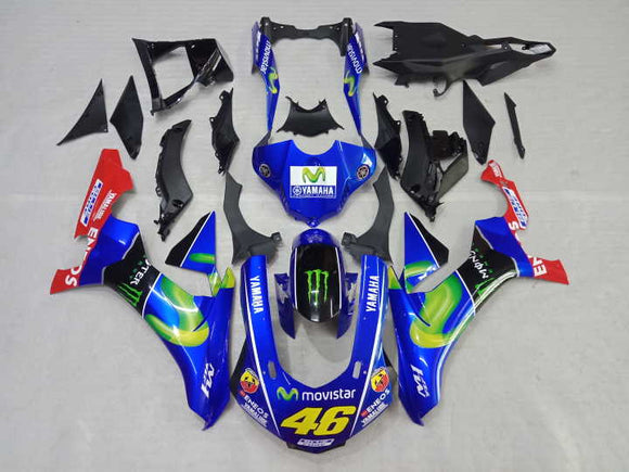 ---AU STOCKING---Fit Yamaha YZF-R1 R1 2015 - 2019 Monster Fairing Kit