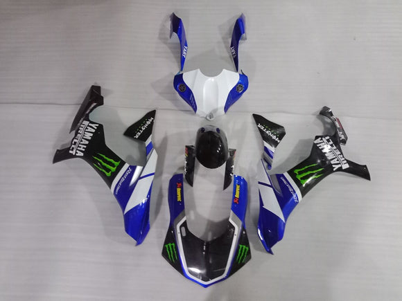 ---AU STOCKING---Fit Yamaha YZF-R1 R1 2015 - 2019 Fairing Kit Movistar Monster