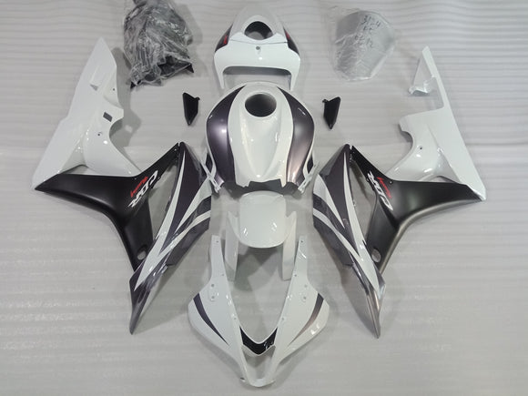 ---AU STOCKING--- Black Silver White Fairing Kit For Honda CBR600RR 2007 2008