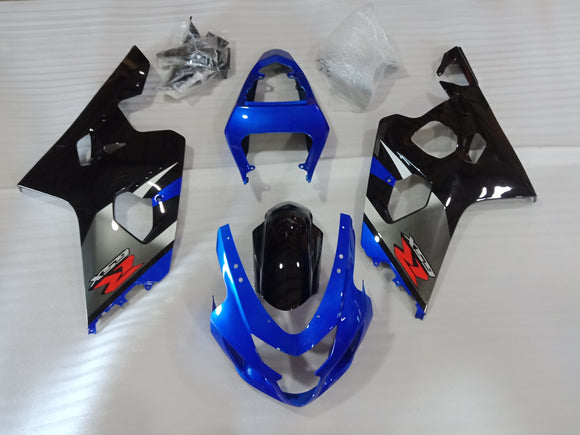 ---AU STOCKING---Black Blue Fairing Kit For Suzuki GSX-R 600 GSX-R 750 2004 2005