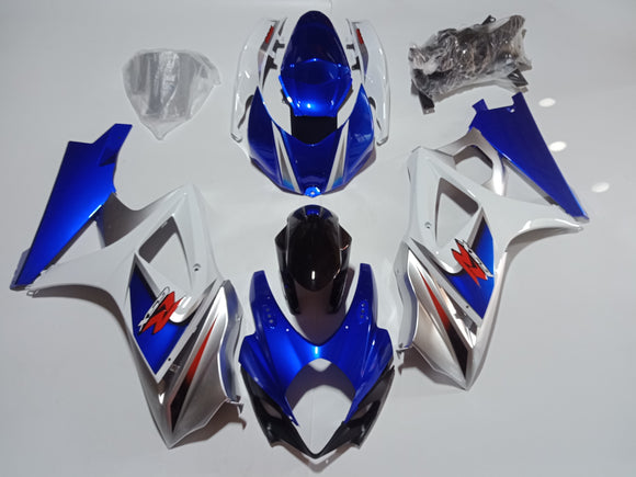 ---AU STOCKING---Blue White Fairing Kit For Suzuki GSXR GSX-R 1000 2007 2008