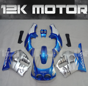---AU STOCKING---Fit Honda CBR250RR MC19 1988 1989 Fairing Kit Blue and Silver