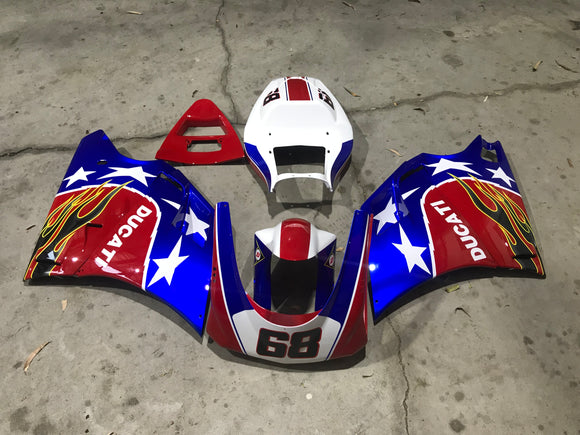 ---AU STOCKING--- Ducati 916 996 748 998 Race Fairing Kit Track Fairing Set