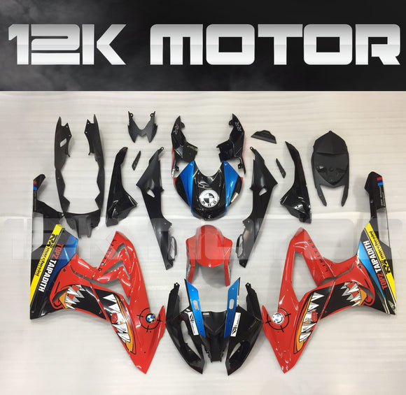 BMW S1000RR 2015-2018 Red Shark Fairing | 12K MOTOR
