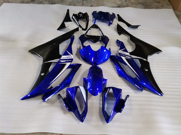 ---AU STOCKING--- Blue Black Fairing Kit For Yamaha YZF-R6 R6 2008-2016
