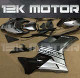 Ducati 848/1098/1198 Satin Black and Silver Fairing | 12K MOTOR