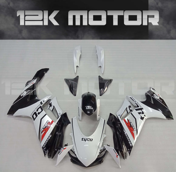 White TYCO Fairing fit for SUZUKI GSXR 600/750 2011-2017 Aftermarket Fairing Kit