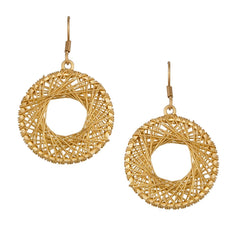 ALCHEMIA WOVEN ROUND EARRINGS
