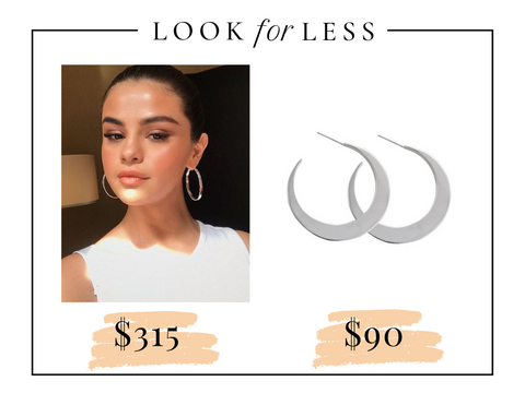 Get Selena Gomez statement sterling silver earrings for less