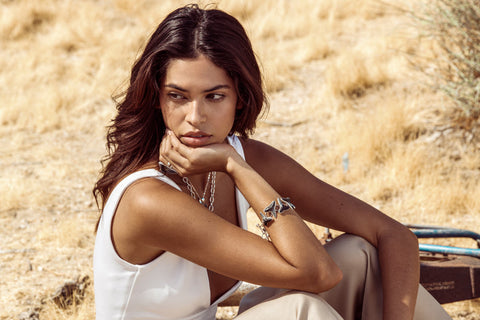 Charles Albert Alchemia Zero Karat Gold 4th of July Jewelry | Juliana Herz in Joshua Tree California