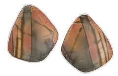 STERLING SILVER RED CREEK JASPER POST EARRINGS
