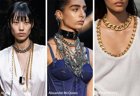Marni, Alexander McQueen and Bottega Veneta massive chains at fashion week
