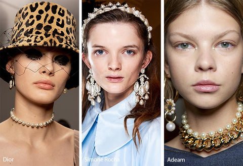 Dior, Simone Rocha, and Adeam modern pearls at Fashion Week