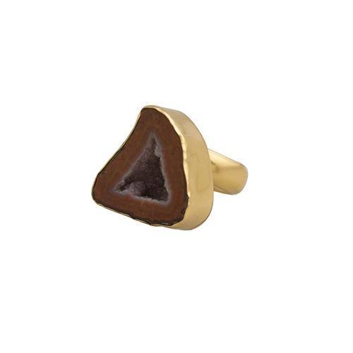 alchemia-tabasco-geode-adjustable-ring - 1 - Charles Albert Inc