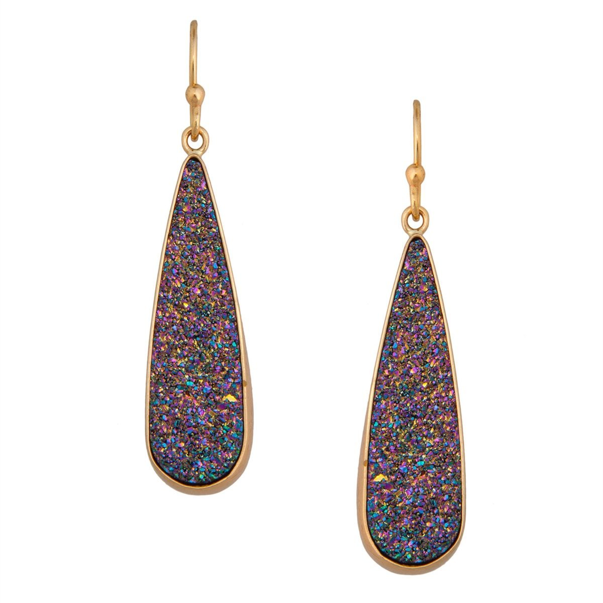 Alchemia Rainbow Druse Teardrop Earrings | Charles Albert Jewelry