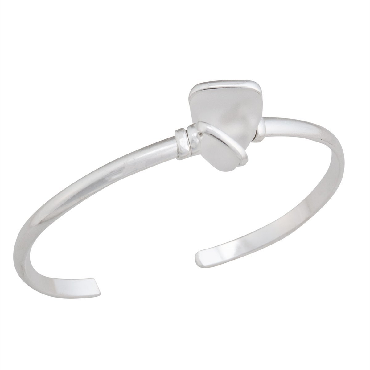 Alpaca Recycled Glass Mini Cuff - White | Charles Albert Jewelry