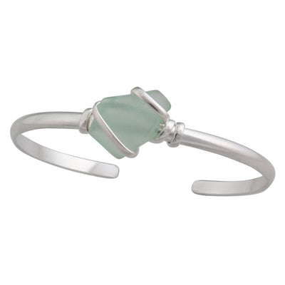 alpaca-recycled-glass-mini-cuff-seafoam-green - 3 - Charles Albert Inc