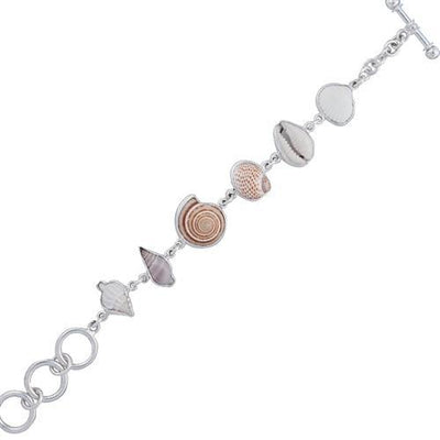 sterling-silver-multi-shell-bracelet - 1 - Charles Albert Inc