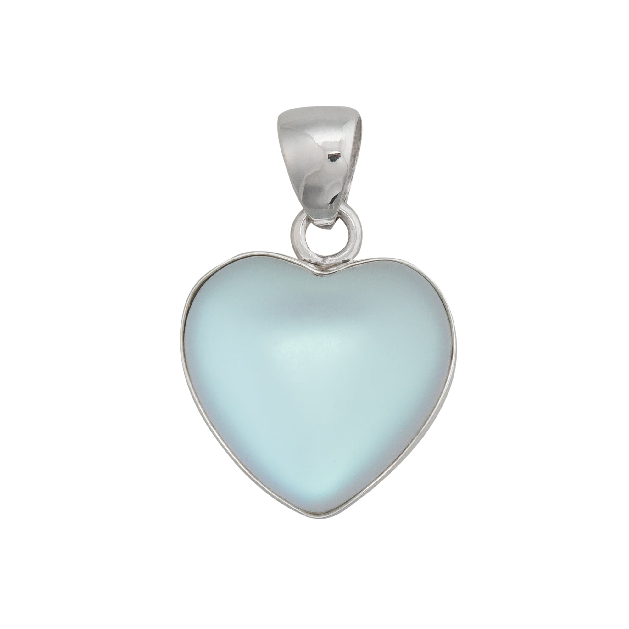 Sterling Silver Luminite Heart Pendant