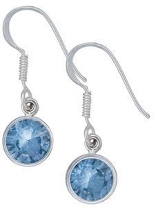 sterling-silver-blue-topaz-dangle-earrings - 1 - Charles Albert Inc