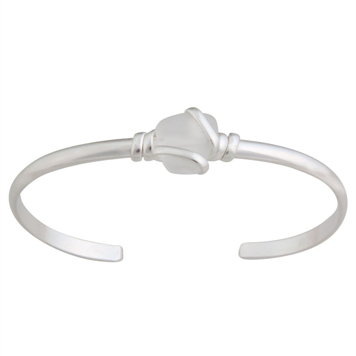 alpaca-recycled-glass-mini-cuff-white - 1 - Charles Albert Inc
