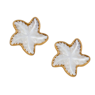 Alchemia-Mother-of-Pearl-Starfish-Post-Earrings-1-Charles Albert Inc