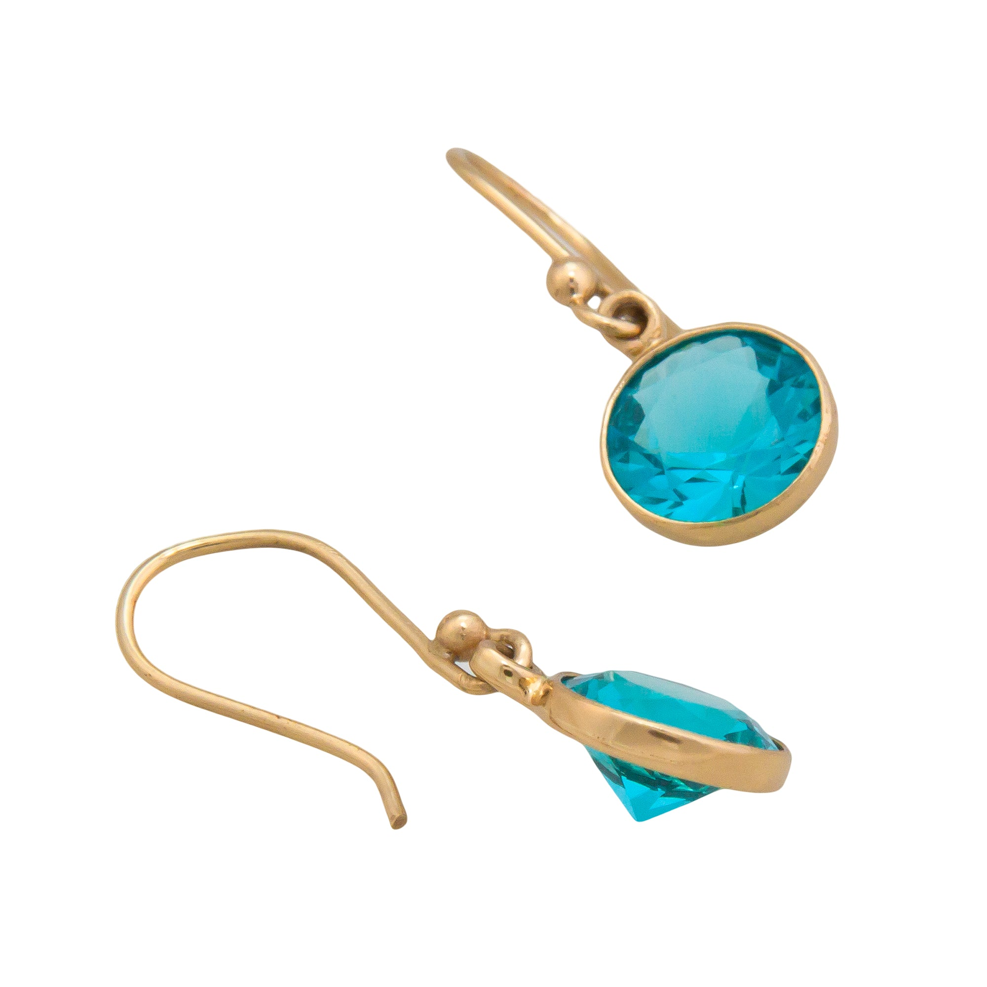Alchemia Lab Created Paraiba Drop Earrings | Charles Albert Jewelry