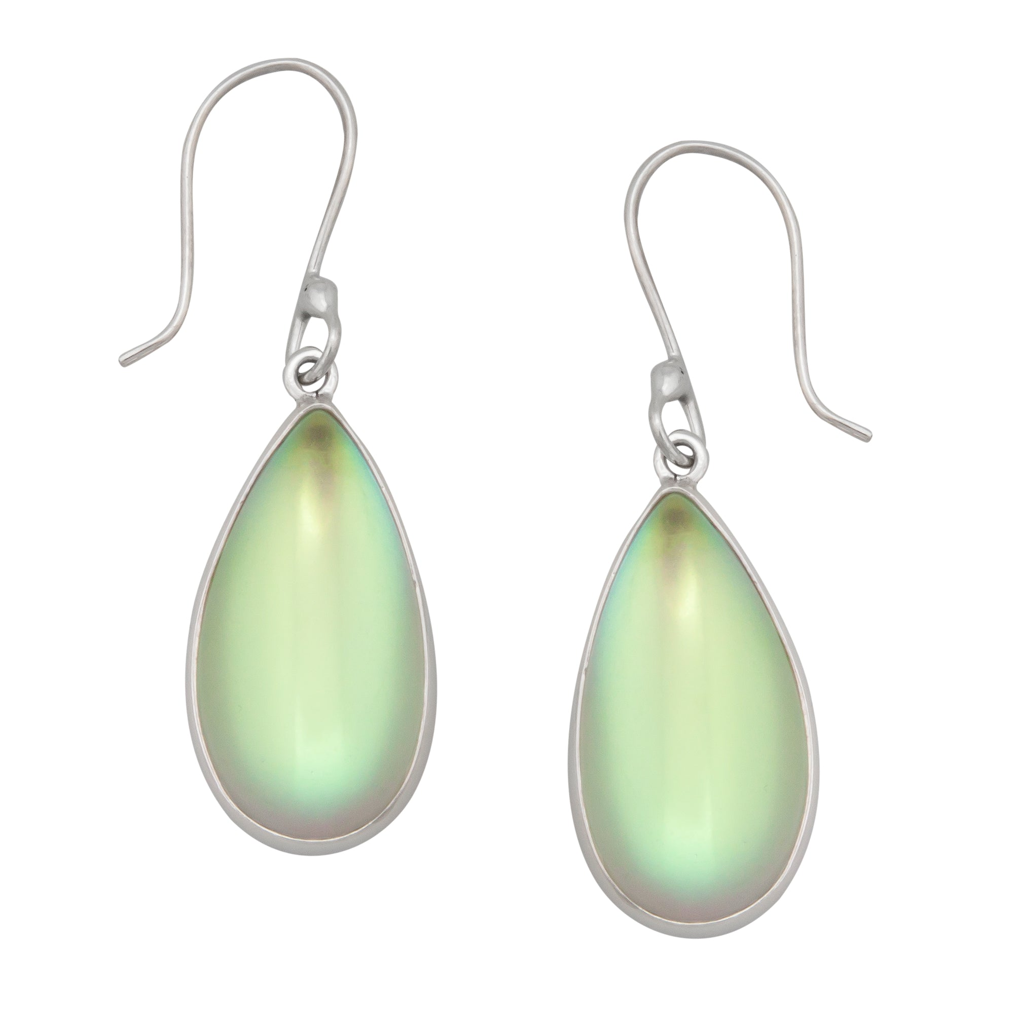 Sterling Silver Teardrop Luminite Drop Earrings