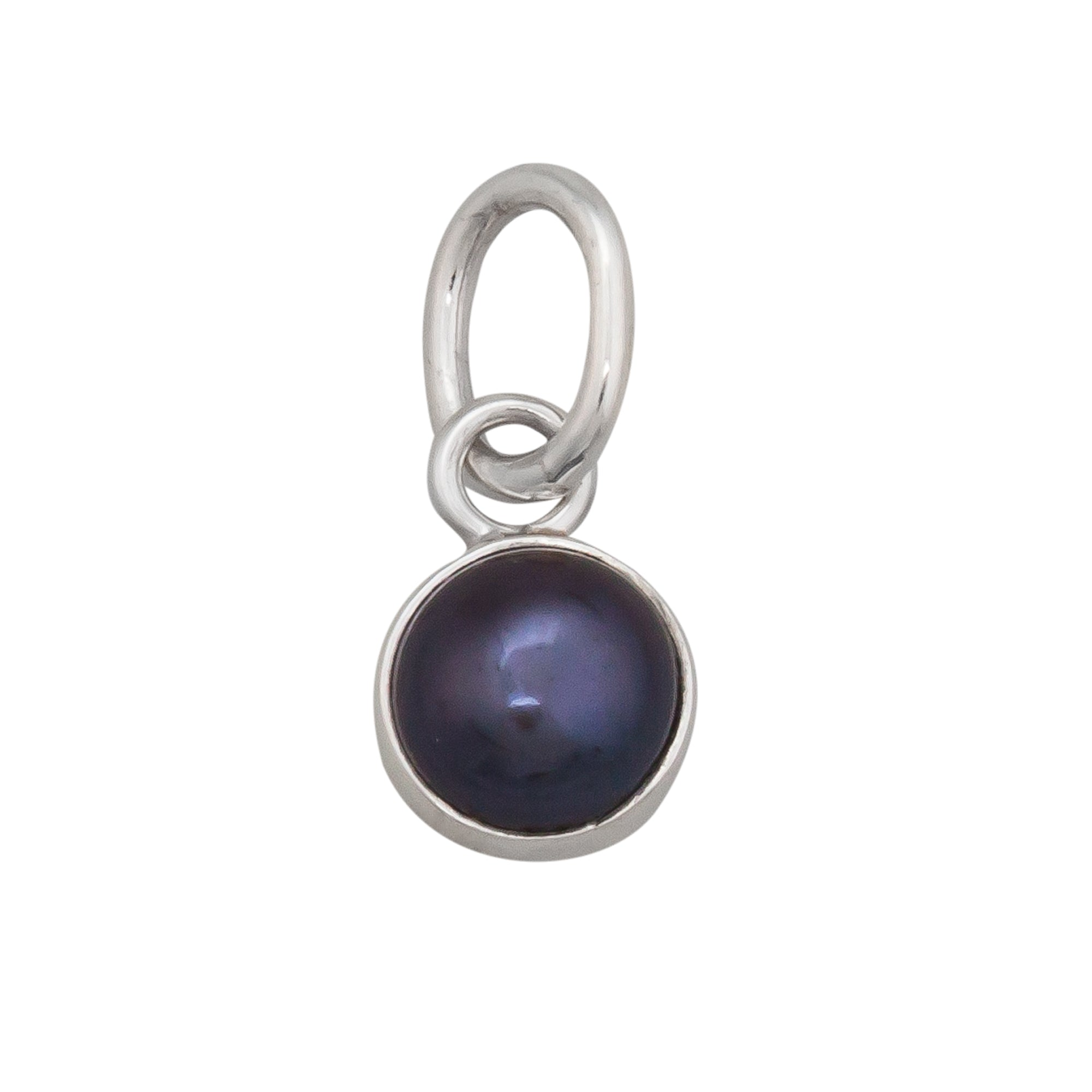 Sterling Silver Gray Pearl Charm Pendant