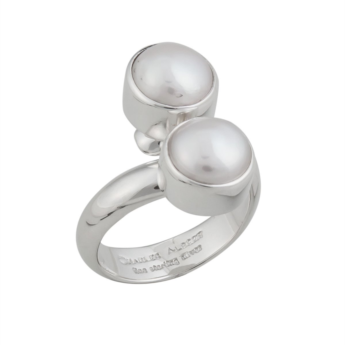 Sterling Silver Pearl Adjustable Ring | Charles Albert Jewelry