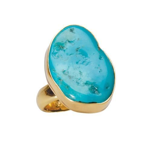Alchemia Sleeping Beauty Turquoise Freeform Ring | Charles Albert Jewelry
