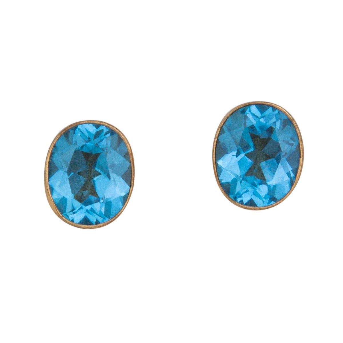 alchemia-blue-topaz-post-earrings - 1 - Charles Albert Inc